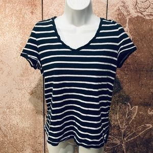 Women's relaxed striped tee